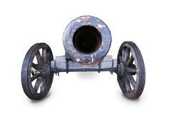 Ancient army gun isolated Royalty Free Stock Photos