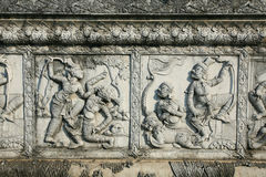 Ancient art carving on the wall Royalty Free Stock Image