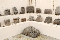 Ancient art on display Stock Photography