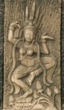 Ancient art of molding in Thai Stock Photos