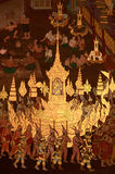 Ancient art mural in Buddhist temple Stock Photography