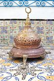 An ancient artifact in Dar El Annabi is an ethnographic museum. Located in an old 18th-century house in Sidi Bou Said, Tunisia Royalty Free Stock Photos