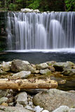 Ancient artificial waterfall. In the valley in the Giant Mountains (Czech Republic stock photography