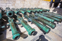 Ancient artillery Cannons In The Moscow Kremlin Royalty Free Stock Image