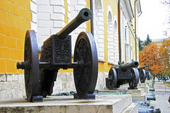 Ancient artillery Cannons In The Moscow Kremlin Royalty Free Stock Photos