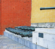 Ancient artillery Cannons In The Moscow Stock Photography