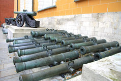 Ancient artillery Cannons In The Moscow Kremlin, Russia Stock Images