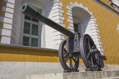 Ancient artillery Cannons In The Moscow Kremlin Royalty Free Stock Photography