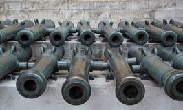 Ancient artillery Cannons Stock Photo