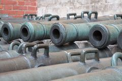 Ancient artillery Cannons Royalty Free Stock Photography