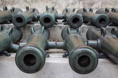 Ancient artillery Cannons Royalty Free Stock Photos