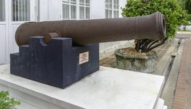 Ancient artillery Cannons in Thailand. Ancient artillery Cannon in Bangkok, Thailand Royalty Free Stock Photo