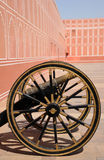 Ancient artillery at the city palace, Jaipur, India. Royalty Free Stock Images