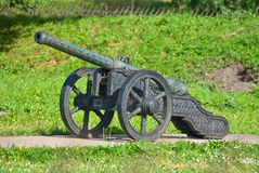 Ancient artillery piece. Royalty Free Stock Images