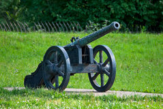 Ancient artillery piece. Royalty Free Stock Photography