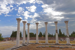 Ancient Asclepio at Kos island in Greece Stock Photo