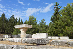 Ancient Asclepio at Kos island in Greece Royalty Free Stock Photo