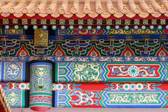 Ancient Asian Artwork. Forbiddden city facade detail (Beijing -China Stock Image