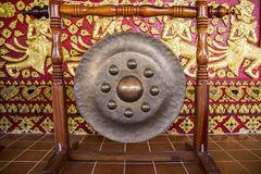 Ancient asian drum. Ancient asian metal drum in Thailand temple Stock Images