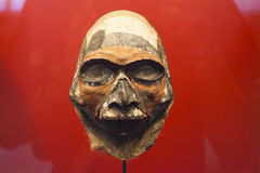 Ancient asian mask. Rare ancient religous mask before buddhist times Royalty Free Stock Photography