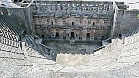 Ancient Aspendo theatre Royalty Free Stock Images