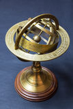 Ancient astrolabe. A view of a golden ancient astrolabe royalty free stock images