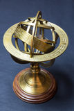 Ancient astrolabe. A view of a golden ancient astrolabe royalty free stock photography