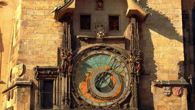 Ancient Astronomical Clock with Moving Figures stock video