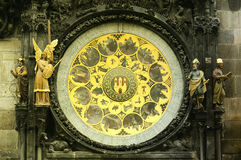 The ancient astronomical Clock Praha. The ancient astronomical Clock in old Praha, tyn tower Royalty Free Stock Photo