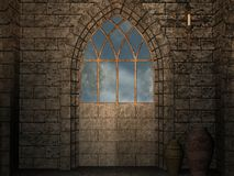 Ancient Asylum. 3D Render of an Ancient Asylum royalty free illustration