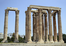 Temple of Olympian Zeus Athens Greece. The Temple of Olympian Zeus Athens Greece - greek ancient landmarks Royalty Free Stock Images