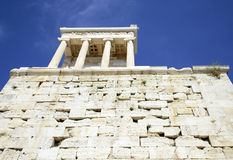 Ancient in Athens Greece. Ancient columns in Athens Greece Royalty Free Stock Photo