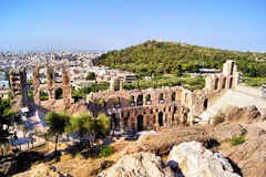 Ancient Athens theatre Royalty Free Stock Image