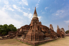Ancient ayutthaya temple ruins thailand Stock Images