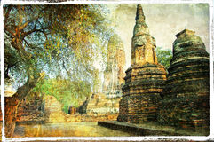 Ancient Ayutthaya -Thailand Stock Images