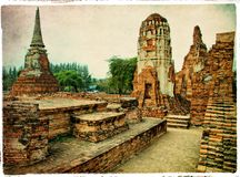 Ancient Ayutthaya -Thailand Stock Photography