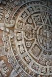 Ancient aztec calendar stock photography