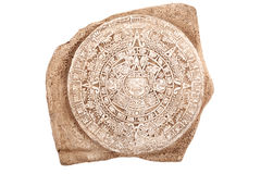 Ancient aztec calendar isolated Stock Photo