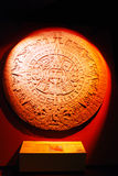 Ancient Aztec disc Stock Photo