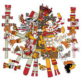 Ancient Aztec God Stock Photography