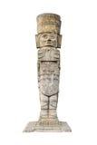 Ancient aztec statue stock photo