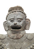 Ancient Aztec statue bust isolated. Royalty Free Stock Photo
