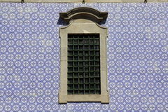 Ancient Azulejo on a church wall Royalty Free Stock Photo