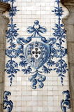 Ancient Azulejo in the city of Porto, Portugal. Stock Photos