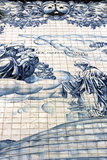 Ancient Azulejo in the city of Porto, Portugal. Stock Photos