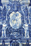 Ancient Azulejo In The City Of Porto, Portugal. Royalty Free Stock Image
