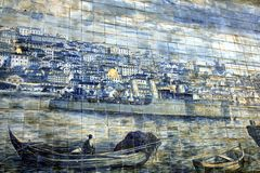 Ancient Azulejo in Lisbon Royalty Free Stock Image