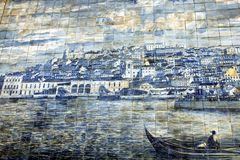 Ancient Azulejo in Lisbon Stock Photography