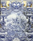 Ancient Azulejo in Lisbon Stock Photos