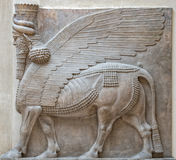 Ancient Babylonia and Assyria sculpture from Mesopotamia. Ancient Babylonia and Assyria sculpture painting from Mesopotamia Stock Photos